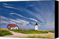 Cape Cod Canvas Prints - Race point Light Canvas Print by Bill  Wakeley
