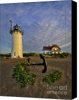 Race Point Canvas Prints - Race Point Lighthouse Canvas Print by Susan Candelario