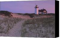 Race Point Canvas Prints - Race Point Lighthouse Twilight Path Canvas Print by John Burk