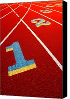 Track Racing Canvas Prints - Race Track  Canvas Print by Olivier Le Queinec