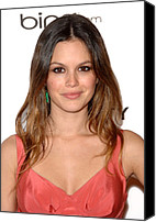 Black Tie Photo Canvas Prints - Rachel Bilson At Arrivals For The Art Canvas Print by Everett
