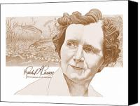 Rachel Carson Canvas Prints - Rachel Carson Canvas Print by John D Benson