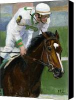 Preakness Canvas Prints - Rachel Wins Preakness Canvas Print by Mary Mapes