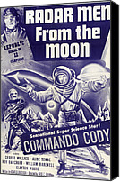 1950s Poster Art Canvas Prints - Radar Men From The Moon, George Wallace Canvas Print by Everett