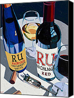 Cakebread Canvas Prints - Radford Red and White Canvas Print by Christopher Mize