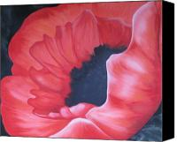 Rj Mcnall Canvas Prints - Radiant Poppy Canvas Print by RJ McNall