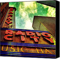 Instagram Canvas Prints - Radio City Music Hall Canvas Print by Luke Kingma