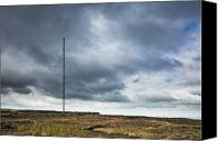 Sparse Canvas Prints - Radio Tower in Field Canvas Print by Jon Boyes