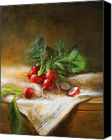 Still Life Canvas Prints - Radishes Canvas Print by Robert Papp