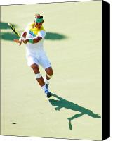 Tennis Canvas Prints - Rafael Nadal Shadow Play Canvas Print by Steven Sparks