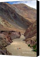 River Rafting Print Canvas Prints - Rafting on the Zanskar River Canvas Print by Serena Bowles