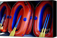 Ranjini Kandasamy Canvas Prints - Rafts Waiting Canvas Print by Ranjini Kandasamy