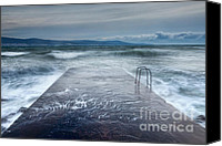 Storm Photo Canvas Prints - Raging Sea Canvas Print by Evgeni Dinev