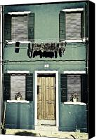 Door Canvas Prints - rags in Venice Canvas Print by Joana Kruse