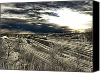Train Canvas Prints - Rail Yard 4 Canvas Print by Scott Hovind