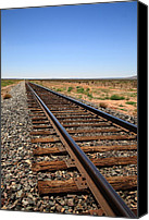 Pioneers Canvas Prints - Railroad Tracks Canvas Print by Frank Romeo
