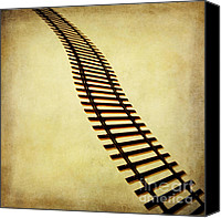 Miniature Canvas Prints - Railway Canvas Print by Bernard Jaubert