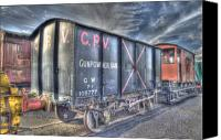 Carriages Canvas Prints - Railway Gunpowder Wagon Canvas Print by Chris Thaxter