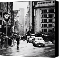 Nyc Canvas Prints - Rain - New York City Canvas Print by Vivienne Gucwa