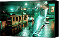 Inspirational Photograph Canvas Prints - Rain at night in San Jose Canvas Print by Heiko Koehrer-Wagner