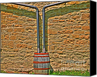 Rain Barrel Photo Canvas Prints - Rain Barrel Canvas Print by Jimmy Ostgard