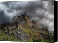 Sky Line Canvas Prints - Rain Clouds Over Edinburgh Castle Canvas Print by Amanda Finan
