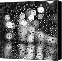 Rain Canvas Prints - Rain Drops #rainy #raining #raindrops Canvas Print by Abdelrahman Alawwad