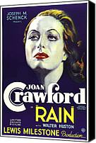 Postv Photo Canvas Prints - Rain, Joan Crawford, 1932 Canvas Print by Everett