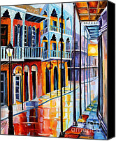 Royal Canvas Prints - Rain on Royal Street Canvas Print by Diane Millsap