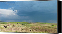 Estephy Sabin Figueroa Photo Canvas Prints - Rain on the Prairie Canvas Print by Estephy Sabin Figueroa