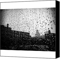 Rain Canvas Prints - #rain #raindrops #window #toronto Canvas Print by Torbjorn Schei