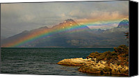 Fuego Canvas Prints - Rainbow at the End of the World  Canvas Print by Bruce J Robinson