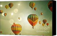 Boy Room Art Canvas Prints - Rainbow Balloon Enchantment Canvas Print by Andrea Hazel Ihlefeld