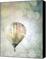 Balloon Fiesta Canvas Prints - Rainbow Balloon Lights Canvas Print by Andrea Hazel Ihlefeld
