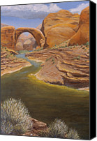 Desert Southwest Canvas Prints - Rainbow Bridge Canvas Print by Jerry McElroy