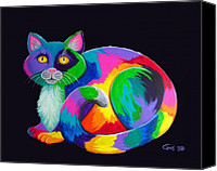 Artworks Canvas Prints - Rainbow Calico Canvas Print by Nick Gustafson