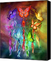 Rainbow Tapestries Textiles Canvas Prints - Rainbow Dreams Canvas Print by Carol Cavalaris
