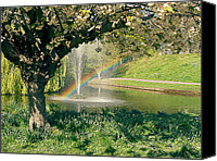 Pool Break Canvas Prints - Rainbow in the Park Canvas Print by Georgia Fowler