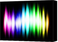 Modern Digital Art Canvas Prints - Rainbow Light Rays Canvas Print by Michael Tompsett