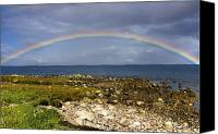 Ocean Front Landscape Canvas Prints - Rainbow On The Island Of Arran, Scotland Canvas Print by John Short