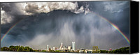 Skyline Canvas Prints - Rainbow over Charlotte Canvas Print by Chris Austin