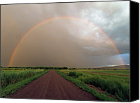Dirt Road Canvas Prints - Rainbow Canvas Print by Pat Gaines