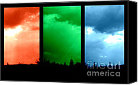Sue Jenkins Canvas Prints - Rainbow Sky  Canvas Print by Sue Jenkins