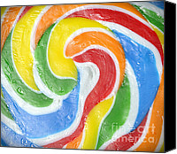 Pick Me Up Canvas Prints - Rainbow Swirl Canvas Print by Luke Moore