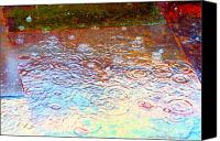 Photohogdesigns Canvas Prints - Raindrops 6877 Canvas Print by PhotohogDesigns