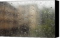 Brandon Tabiolo Canvas Prints - Raindrops on Window Canvas Print by Brandon Tabiolo - Printscapes