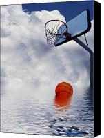 Ball Mixed Media Canvas Prints - Rained Out Game Canvas Print by Gravityx Designs