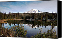 Alpine Canvas Prints - Rainier Serenity Canvas Print by Mike Reid