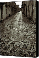 Raining Canvas Prints - Raining in Erice Canvas Print by RicardMN Photography