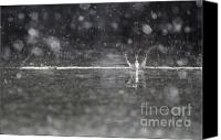 Raining Canvas Prints - Raining on the street Canvas Print by Mats Silvan